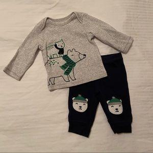 Carter's newborn set for winter